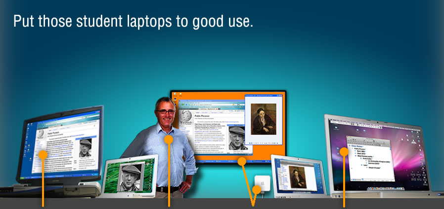 Put those student laptops to good use.